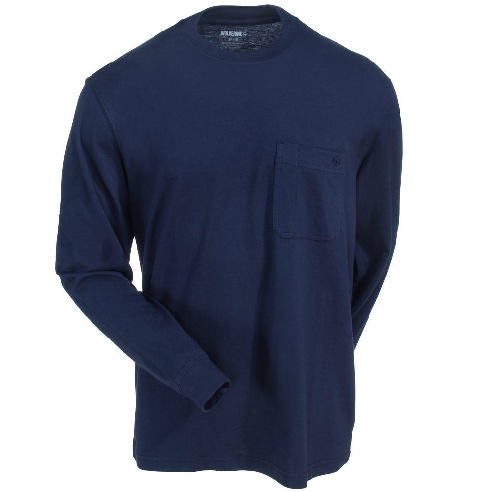 Long-sleeve   Wolverine   Shirt   Navy   Blue   Men