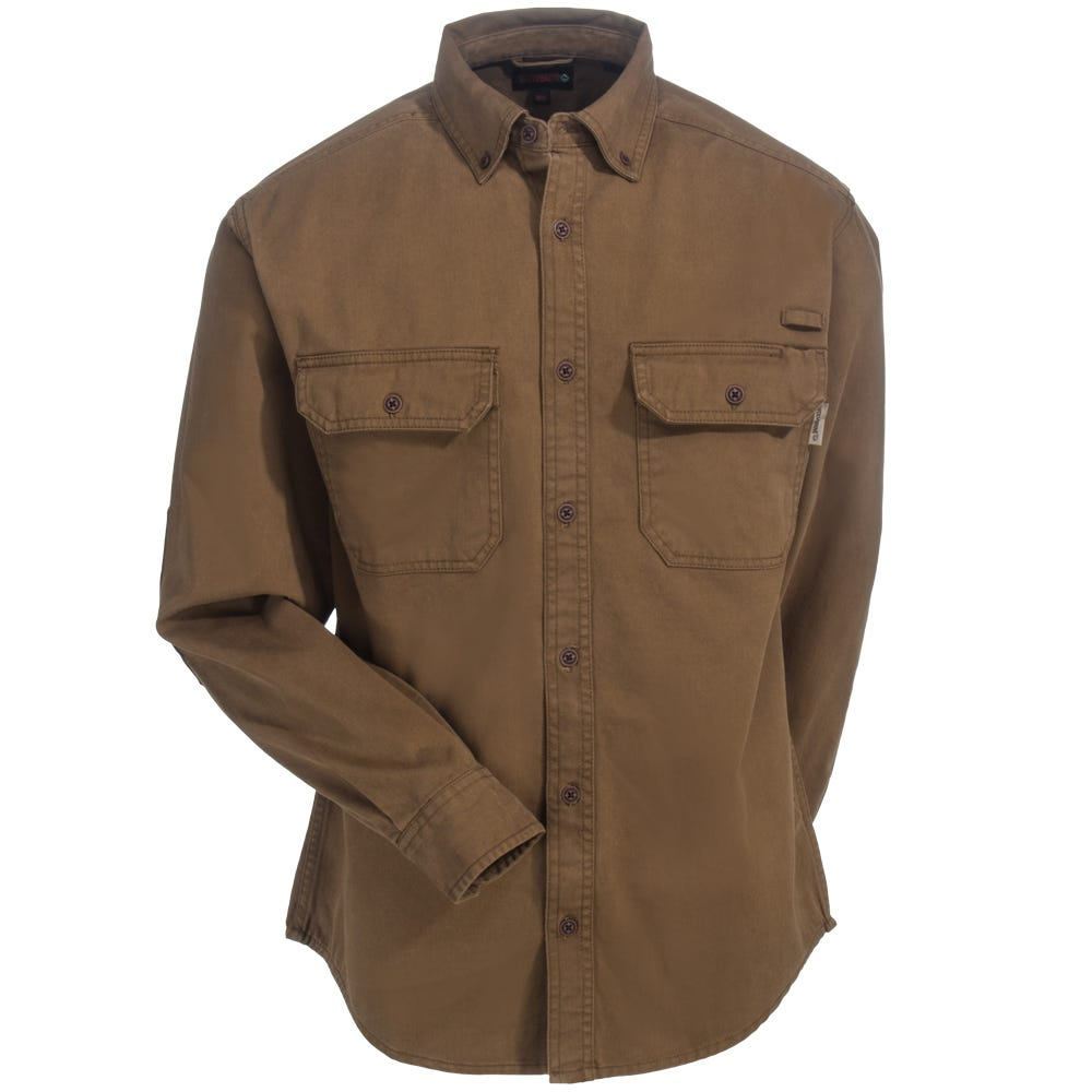 Long-sleeve   Wolverine   Brown   Shirt   Men