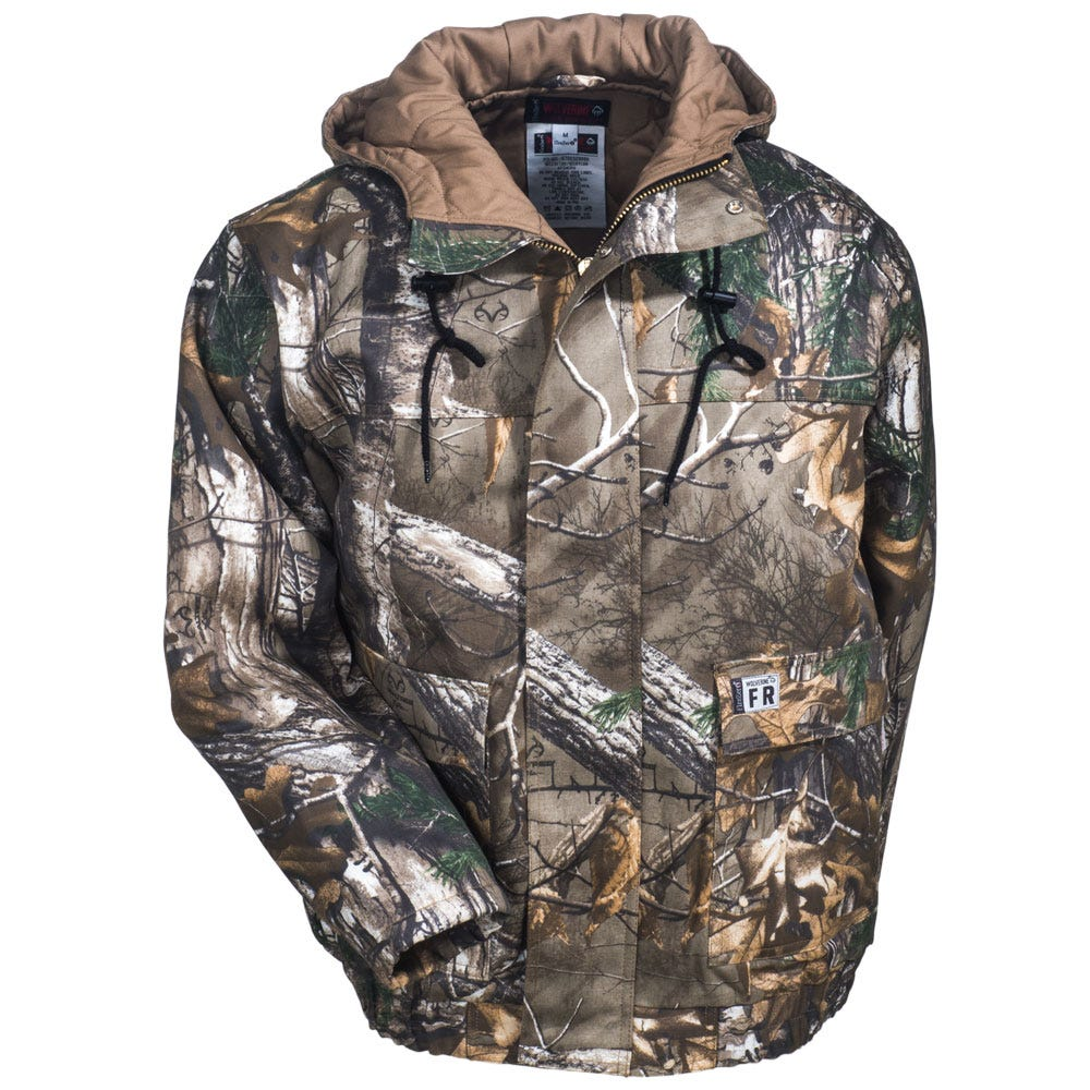 ae60a3f1eb58 Wolverine Clothing Men s W1204470 996 Camo Flame-Resistant Work Jacket
