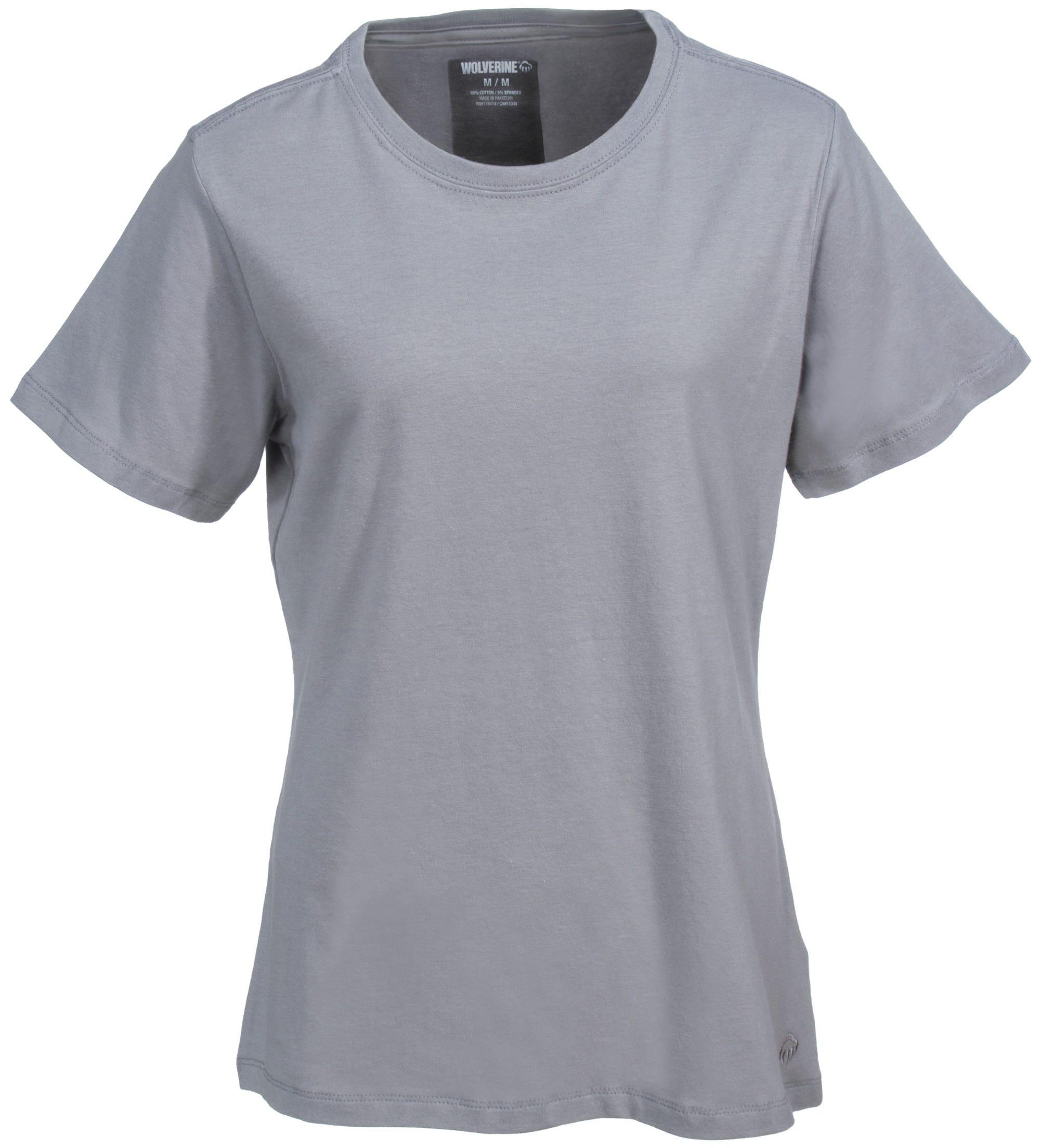 Wolverine Women's W1204570 028 Grey Short Sleeve Lena Tee Shirt