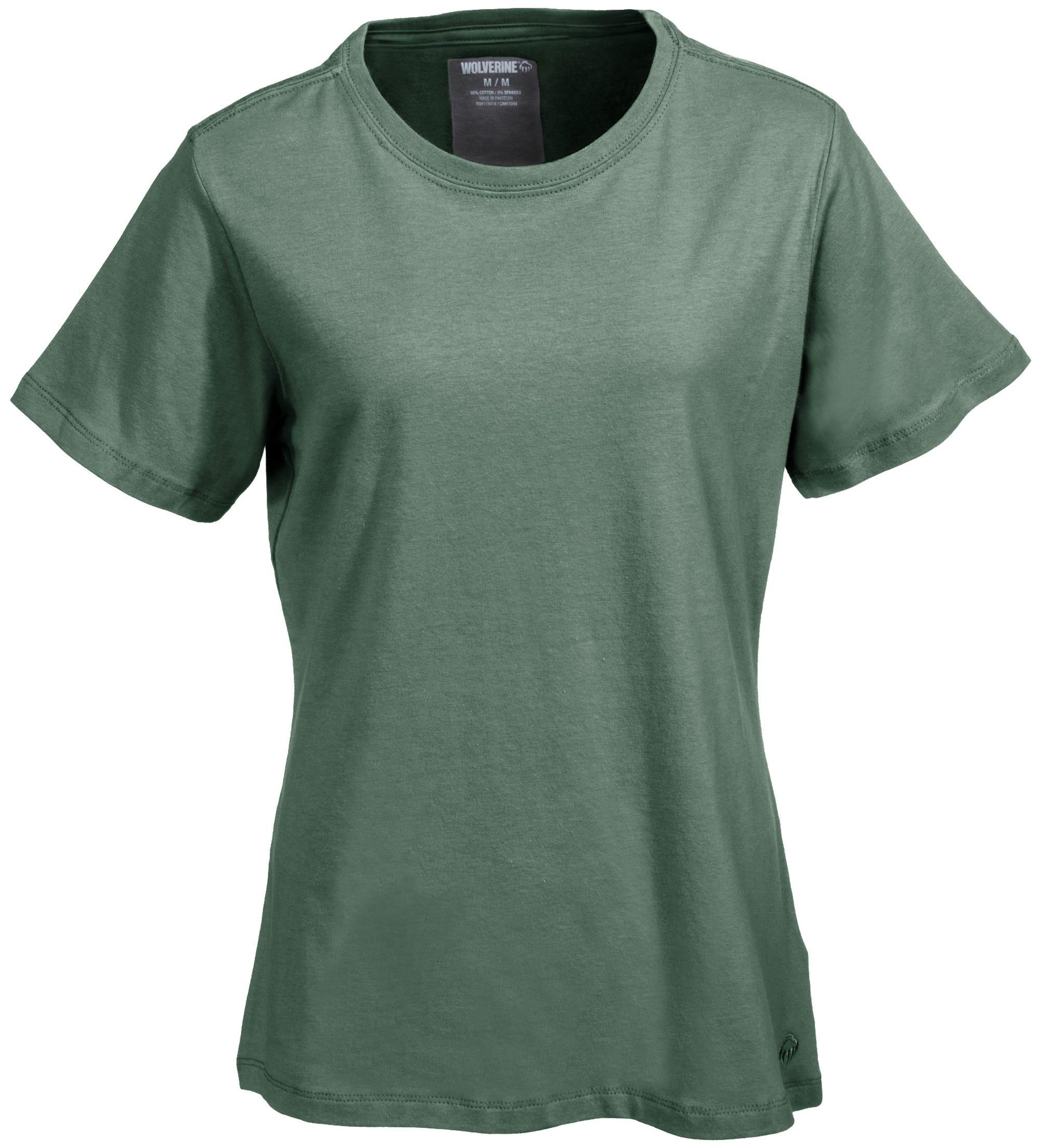 Wolverine Moisture-Wicking W1204570 344 Women's Green Lena Shirt