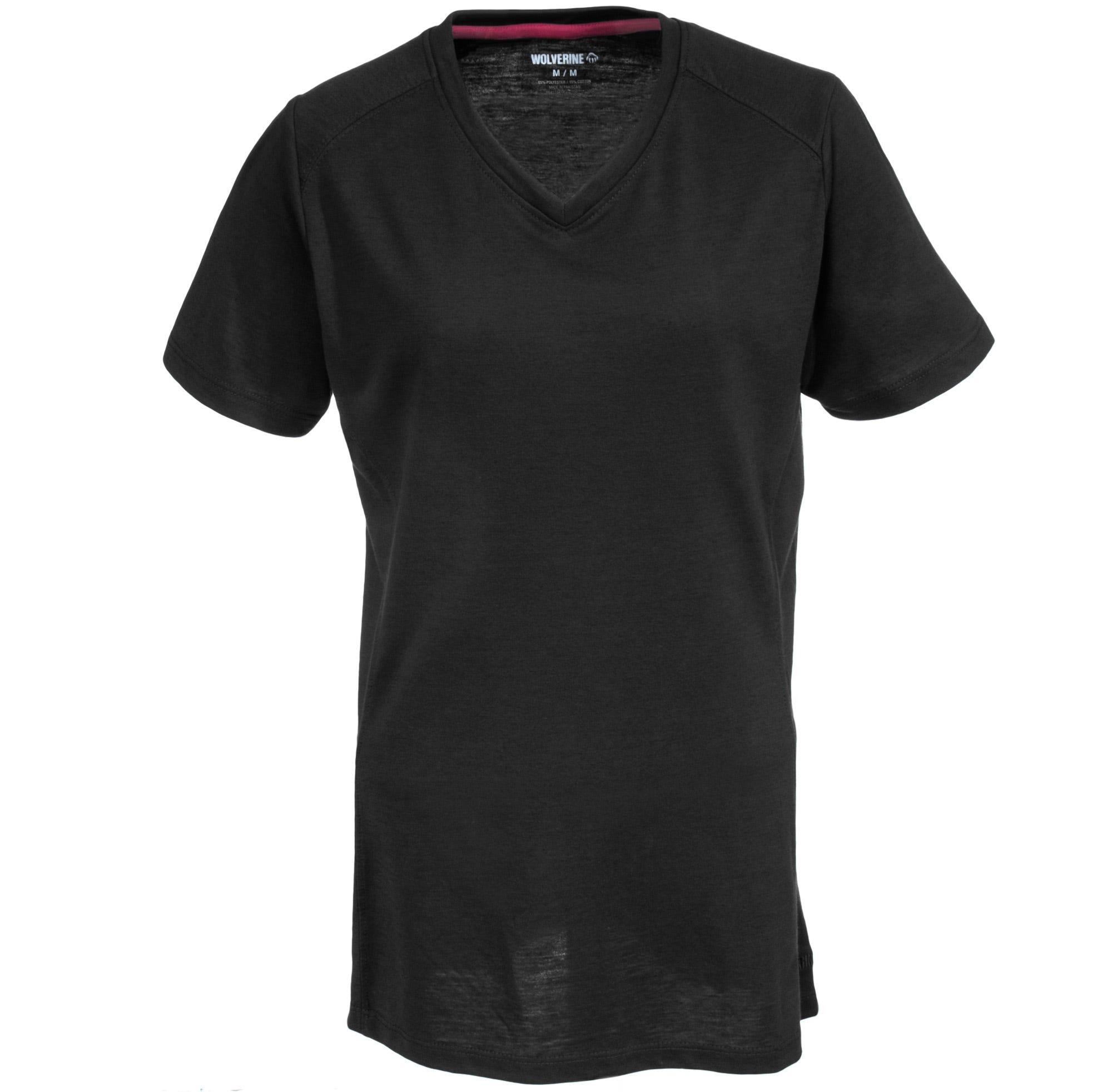 Wolverine Piper W1204590 003 Women's Black Short Sleeve Shirt