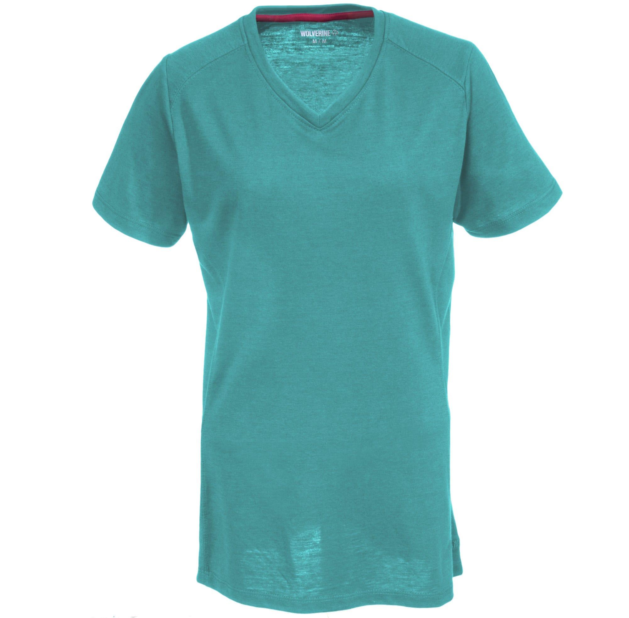 Wolverine Women's W1204590 463 Blue Piper Short Sleeve Tee Shirt