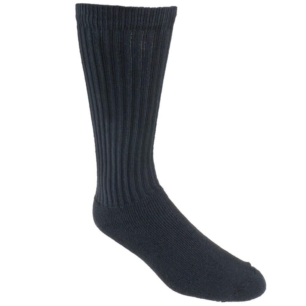 f960995d4c7 Wolverine Socks  Men s W91922570 001 USA-Made Black 3-Pack Cotton ...
