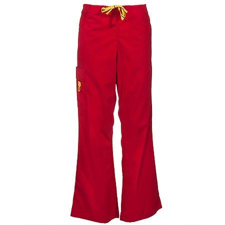 Wonderwink Women's Red Romeo Scrub Pants 5026 RED