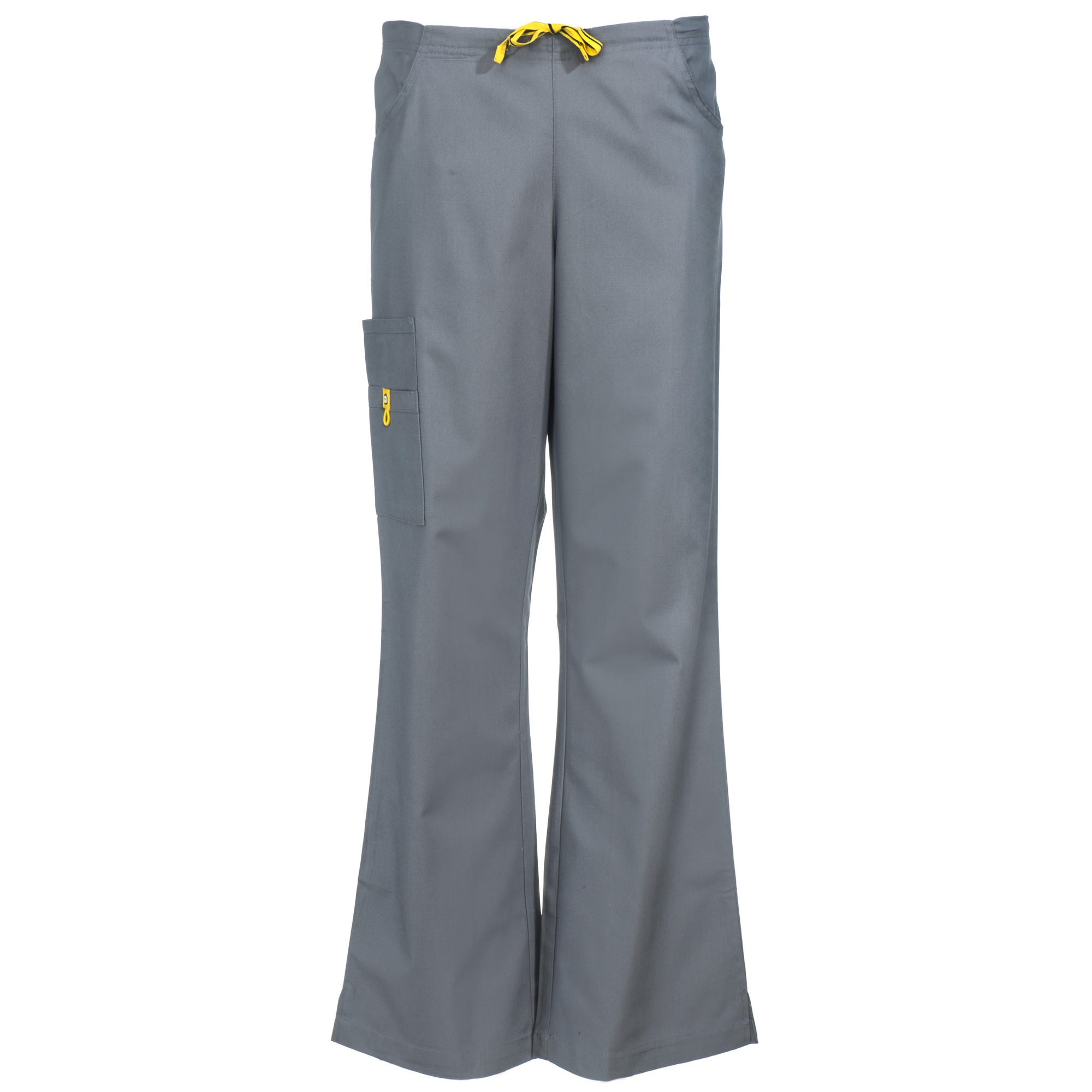 Wonderwink Women's 5026 PEW Grey Romeo Flare Leg Pewter Scrub Pants
