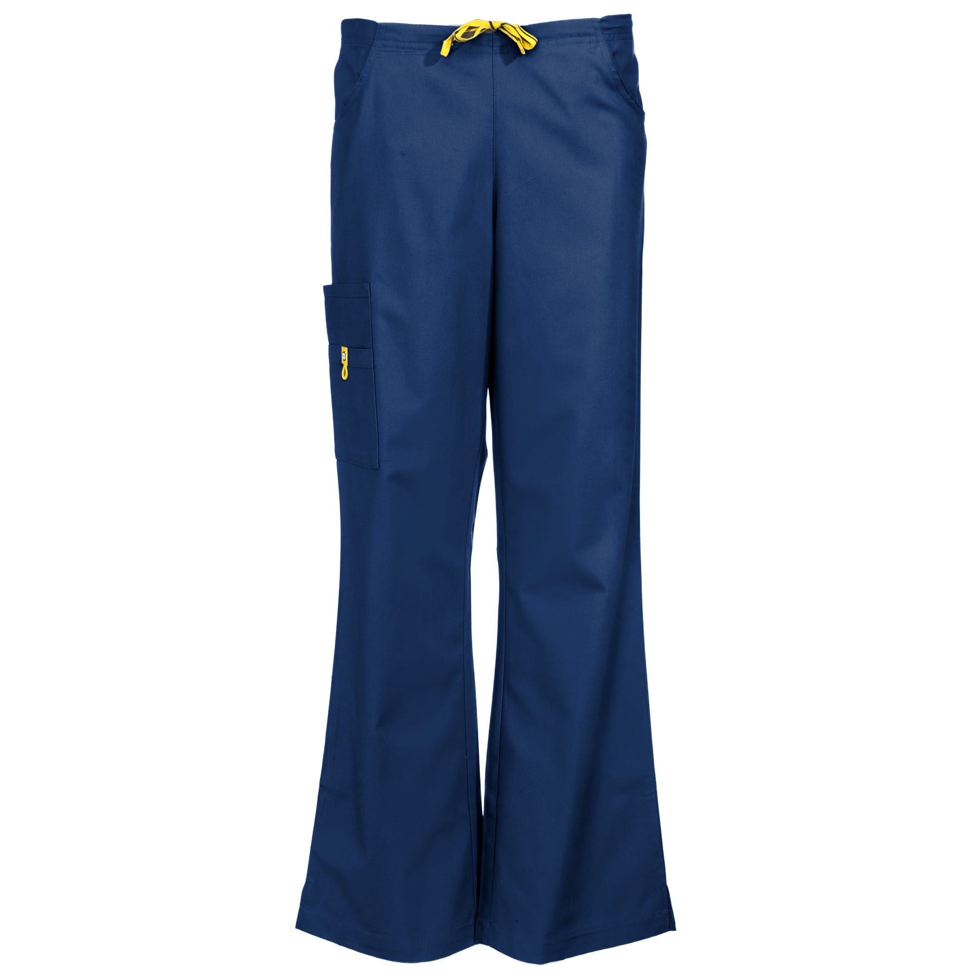 Wonderwink Women's 5026 NVY Romeo Navy Blue Flare Leg Cotton/Poly Scrub Bottoms