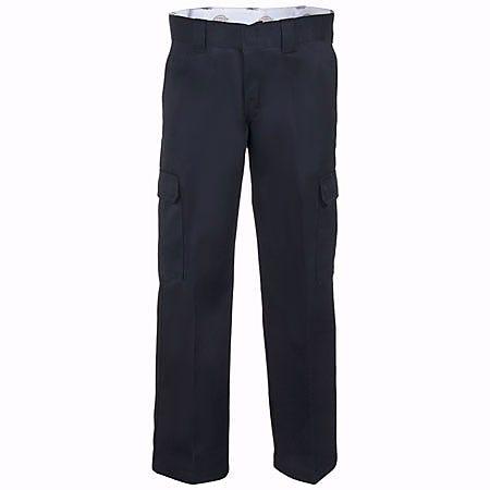 Dickies WP592 BK Black Relaxed Straight Leg Cargo Work Pants
