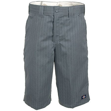 Dickies Grey Stripe WR878 GA Regular Fit 13 Inch Shorts