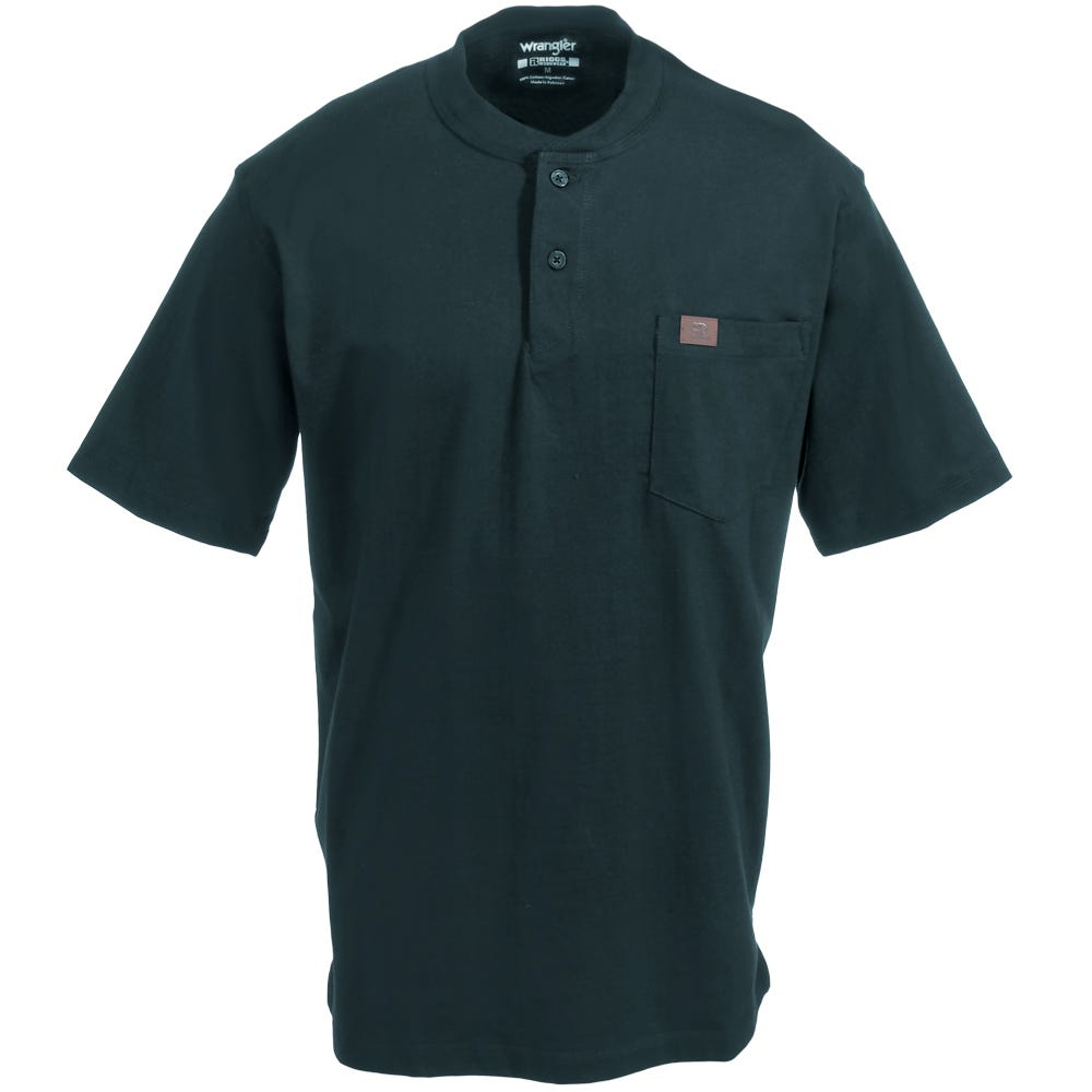 Wrangler Riggs Shirts: Men's Forest Green 3W760 FG Short