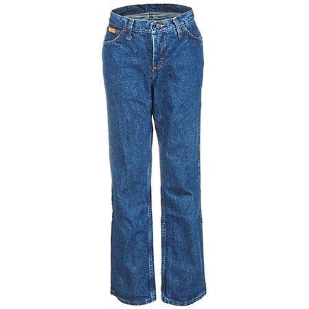Wrangler Women's Flame Resistant Blue FRW10 BL Stone Denim Jeans