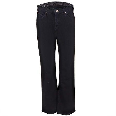 Wrangler Women's Black Cotton Denim WRQ20 BL Cowgirl Cut Riding Jeans