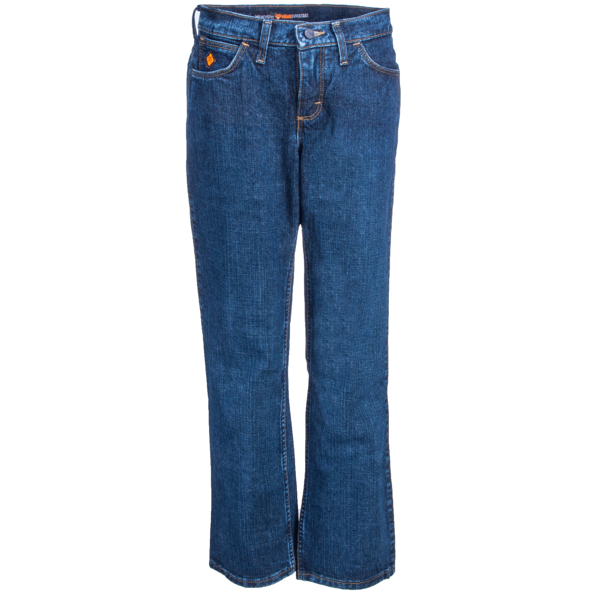 Wrangler Women's Crosshatch FRW10CH Flame Resistant Relaxed Fit Work Jeans