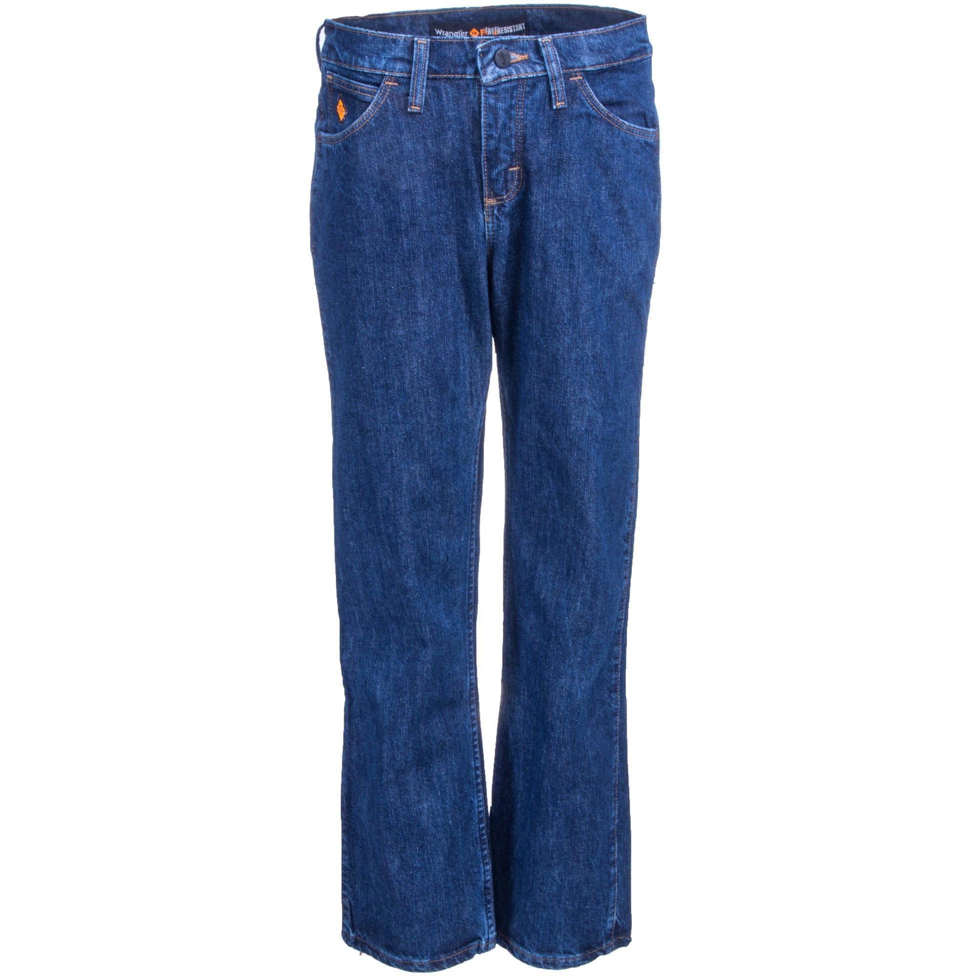 Wrangler Women's Dark Denim FRW10DD Flame Resistant Relaxed Fit Work Jeans